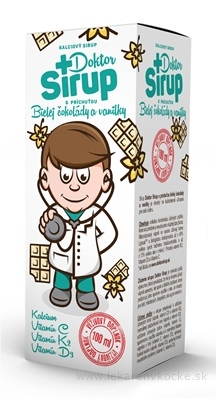 Doktor Sirup kalciový sirup s príchuťou Bielej čokolády a vanilky 1x100 ml