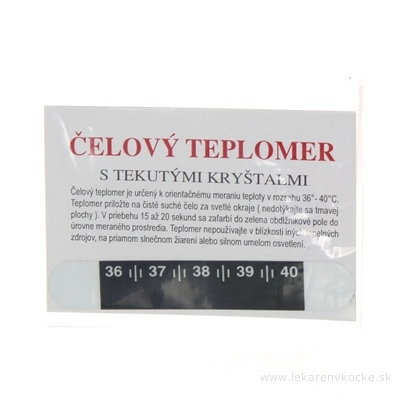 TEPLOMER čelový 1x1 ks