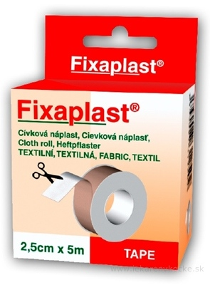 FIXAplast Cievková náplasť 2,5cm x 5m textilná 1x1 ks