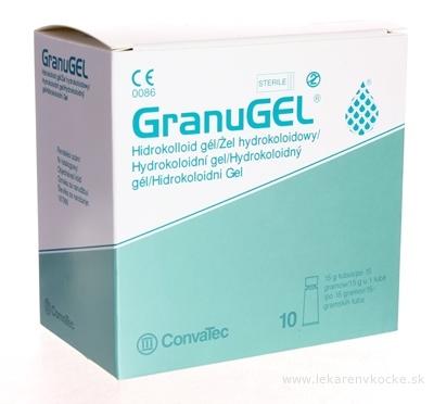 GranuGEL hydrokoloidný sterilný gél tuba 15 g, ošetrenie otvorených rán 1x10 ks