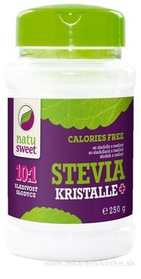 NATUSWEET STEVIA KRISTALLE+ 10:1 sladidlo, práškové 1x250 g
