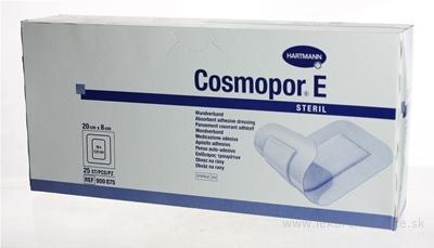 COSMOPOR E STERIL náplasť sterilná s mikrosieťkou (20x8 cm) 1x25 ks