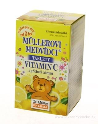 MÜLLEROVE medvedíky - vitamín C tbl s príchuťou citrónu 1x45 ks