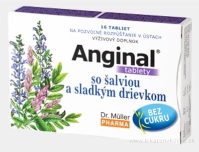 Dr. Müller ANGINAL so šalviou a sladkým drievkom tbl (pri nachladnutí) 1x16 ks