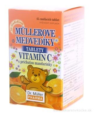 MÜLLEROVE medvedíky - vitamín C tbl s príchuťou mandarínky 1x45 ks