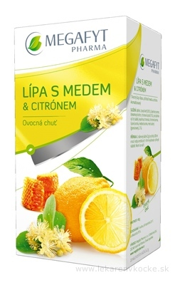 MEGAFYT Lipa s medom & citrónom 20x2 g (40 g)