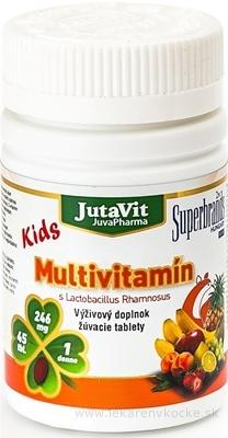 JutaVit Multivitamín s Lactobac. Rhamnosus Kids žuvacie tablety 1x45 ks