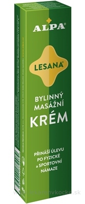 ALPA KRÉM LESANA bylinný masážny 1x40 g