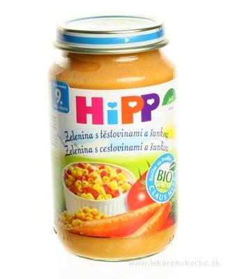 HiPP Príkrm Cestoviny šunka so zeleninou Junior menu (od ukonč. 9. mesiaca) 1x220 g