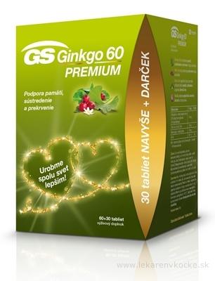 GS Ginkgo 60 PREMIUM darček 2020 tbl 60+30 navyše (90 ks)