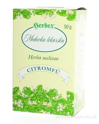 HERBEX MEDOVKA LEKÁRSKA sypaný čaj 1x50 g