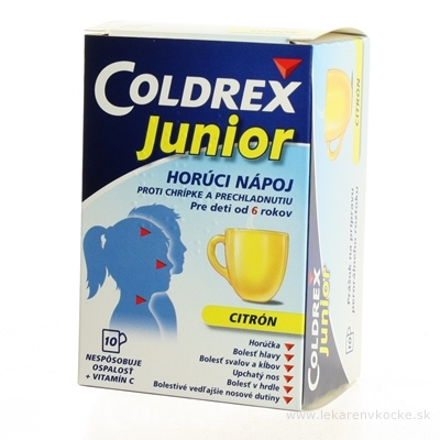 Coldrex Junior Citrón plo por (vre.papier/PE/Al/PE) 1x10 ks