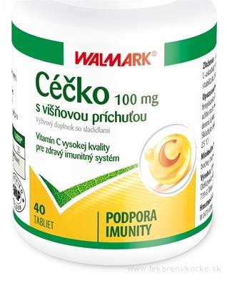 WALMARK Céčko 100 mg tbl s višňovou príchuťou 1x40 ks