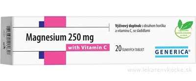 GENERICA Magnesium 250 mg + Vitamin C tbl eff 1x20 ks