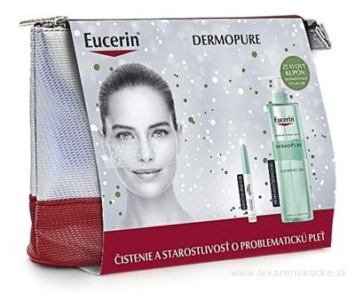 Eucerin DERMOPURE Vianočná kazeta krycí korektor 2,5 g + hĺbkovo čistiaci gél 400 ml, 1x1 set