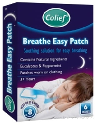 Colief Breathe Easy Patch Eucalyptus & Peppermint náplasť 1x6 ks