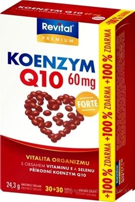Revital KOENZÝM Q10 60 mg+VITAMÍN E+SELÉN FORTE cps 30+30 (100% zadarmo) (60 ks)