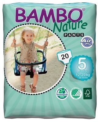 BAMBO PANTS Junior-5 pre deti 12-20 kg plienkové nohavičky navliekacie, savosť 900 ml, 1x20 ks