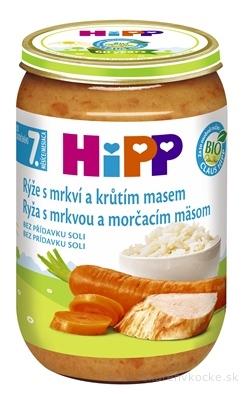 HiPP Prikrm BIO Ryža s mrkvou a morčacím mäsom nová receptúra 2017 (od ukonč.7. mesiaca) 1x220 g
