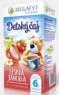 MEGAFYT Detský čaj LESNÁ JAHODA inov.2015, ovocný čaj, 20x2 g (40 g)