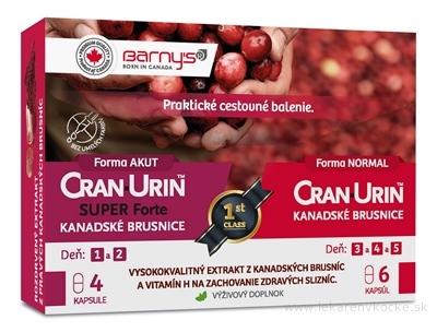 Barnys CRAN-URIN cestovné balenie cps (SUPER Forte 4 ks + Kanadské brusnice 6 ks) 1x10 ks