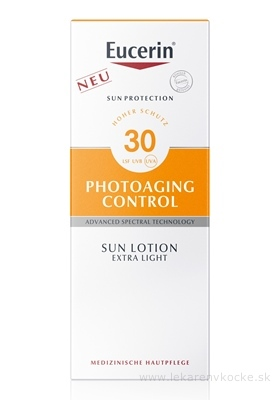 Eucerin SUN PHOTOAGING CONTROL SPF 30 mlieko extra ľahké na opaľovanie 1x150 ml