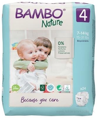BAMBO 4 (7-14 kg) detské plienky priedušné, savosť 950 ml (inov.2020) 1x24 ks