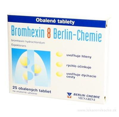 Bromhexin 8 Berlin-Chemie tbl obd 8 mg (blis.) 1x25 ks