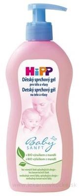 HiPP BabySANFT Detský sprchový gél na telo a vlasy 1x400 ml
