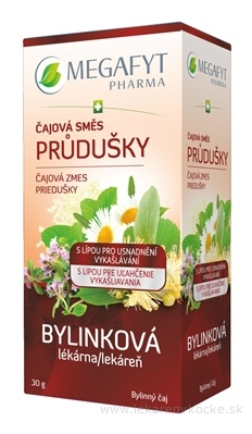 MEGAFYT Bylinková lekáreň Čajová zmes PRIEDUŠKY bylinný čaj, s lipou, 20x1,5 g (30 g)