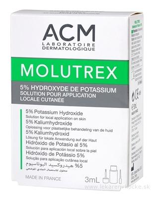 ACM MOLUTREX roztok na ošetrenie kontagiózneho molusku 1x3 ml