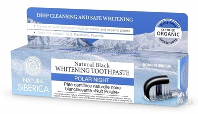 NATURA SIBERICA POLAR NIGH Toothpaste zubná pasta, prírodná bieliaca, čierna noc 1x100 g