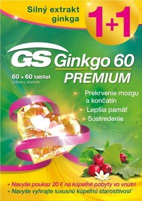 GS Ginkgo 60 PREMIUM + darček 2018 tbl 60+60 (120 ks) + darčekový pokaz, 1x1 set
