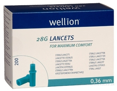 Wellion LANCETS 28G - Lanceta sterilná priemer 0,36 mm (WELL208) 1x200 ks
