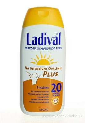 LADIVAL P+T Plus 20 LF mlieko na ochranu proti slnku 1x200 ml