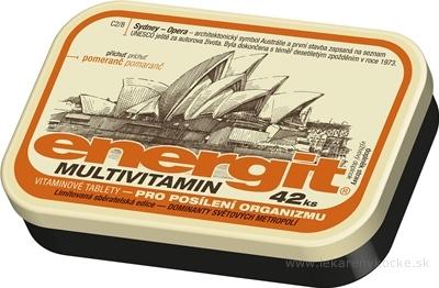 Energit MULTIVITAMIN vitamínové tablety s príchuťou pomaranč 1x42 ks