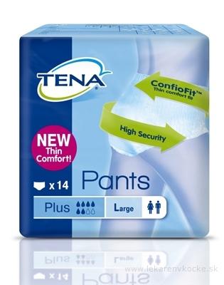 TENA PANTS PLUS LARGE NEW naťahovacie absorpčné nohavičky (inov.2014), savosť 1440 ml, obvod bokov 100-135 cm, 1x14 ks