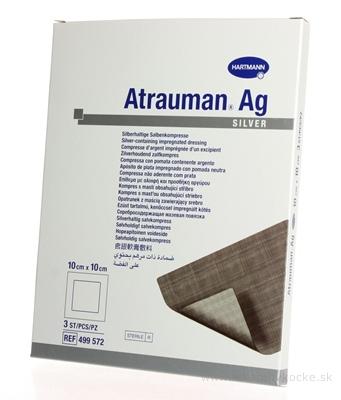ATRAUMAN AG kompres impregnovaný, obsahuje striebro (10x10 cm) 1x3 ks