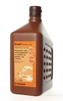 B.BRAUN Braunol sol der (PE fľaša) 1x1000 ml