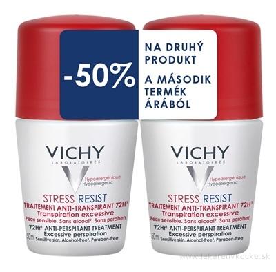 VICHY DEO STRESS RESIST 72H DUO (M6332600) antiperspirant, (50% zľava na druhý produkt) 2x50 ml, 1x1 set
