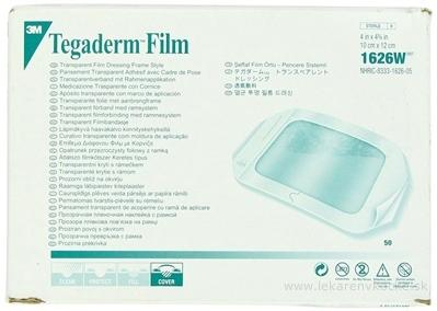 3M TEGADERM Film 1626W 10cm x 12cm, transparentné krytie, 1x1 ks