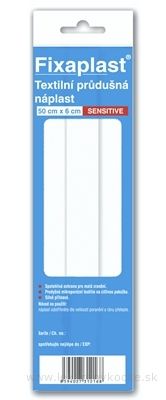 FIXAplast SENSITIVE textilná priedušná náplasť 0,5 mx6 cm, 1x1 ks