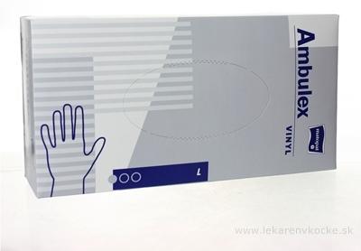 Ambulex rukavice VINYLOVÉ veľ. L, nesterilné, púdrované 1x100 ks