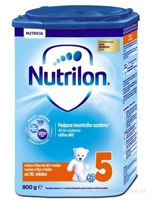 Nutrilon 5 detská mliečna výživa v prášku (od ukonč. 36. mesiaca) (inov.2018) 1x800 g