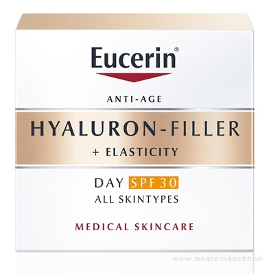 Eucerin HYALURON-FILLER+ELASTICITY DAY SPF 30 denný krém, anti-age, 1x50 ml