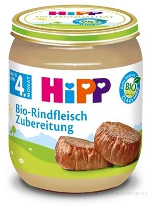 HiPP Príkrm BIO Hovädzie mäso - pyré mäso (od ukončeného 4. mesiaca) 1x125 g