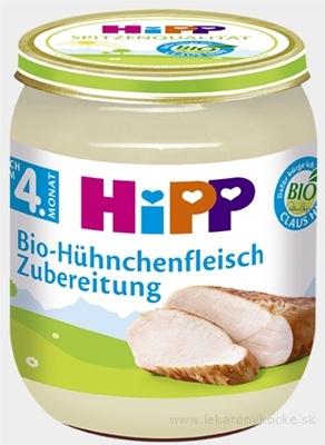 HiPP Príkrm BIO Kuracie mäso - pyré mäso (od ukončeného 4. mesiaca)(Bio-Hühnchenfleisch) 1x125 g