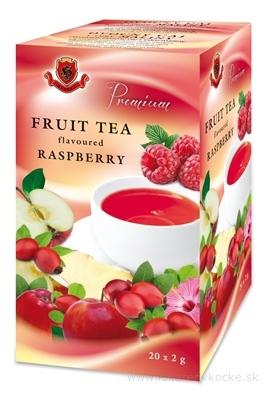 HERBEX Premium OVOCNÝ čaj s príchuťou MALINA záparové vrecká 20x2 g (40 g)