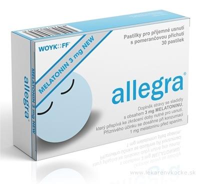 allegra MELATONÍN 3 mg NEW pastilky s pomarančovou príchuťou (inov.2019) 1x30 ks