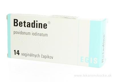 Betadine 200 mg vaginálne čapíky sup vag (fólia plastická) 1x14 ks